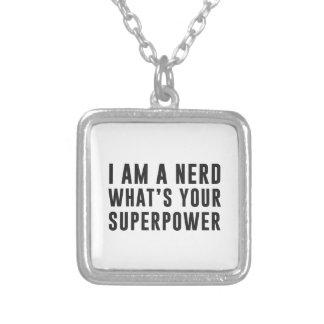 Soy un empollón. ¿Cuál es su superpotencia? Colgante Cuadrado