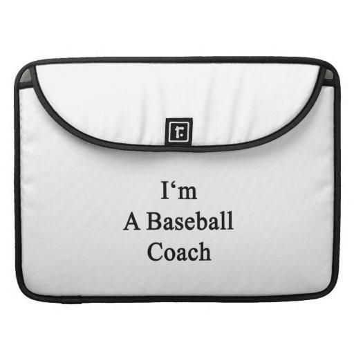Soy un entrenador de béisbol funda para macbooks