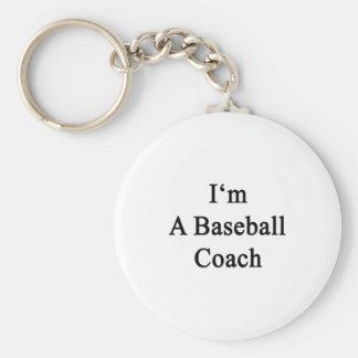 Soy un entrenador de béisbol llavero redondo tipo pin