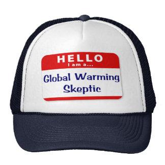 Soy un escéptico del calentamiento del planeta gorras