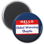 Soy un escéptico del calentamiento del planeta imán de frigorifico