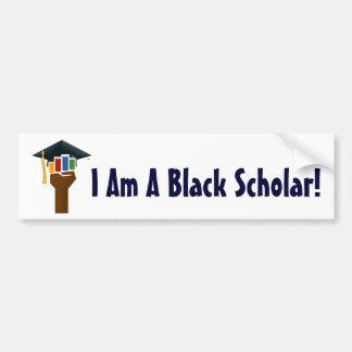 Soy un escolar negro - pegatina para el parachoque pegatina de parachoque