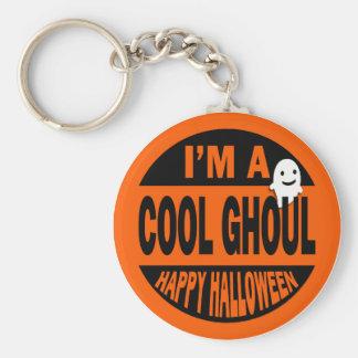Soy un espíritu necrófago fresco, feliz Halloween Llavero Redondo Tipo Pin