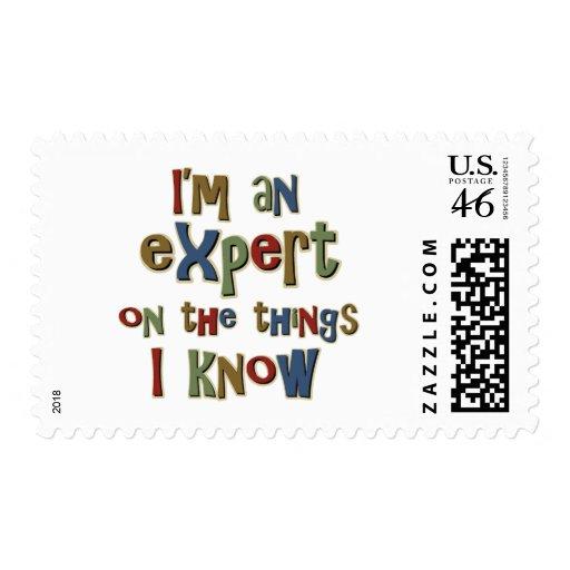 Soy un experto en cosas que sé sello