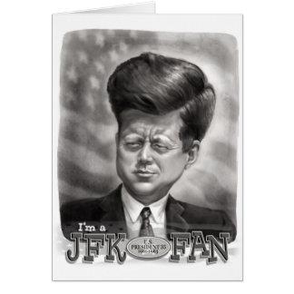Soy un fan de JFK Tarjeta