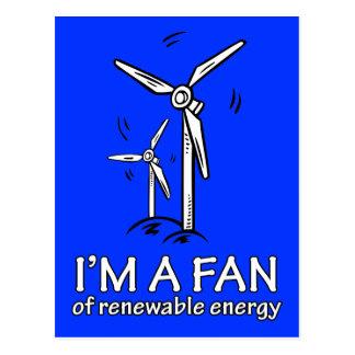 Soy un fan de la energía renovable tarjetas postales