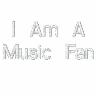 Soy un fan de música sudadera bordada