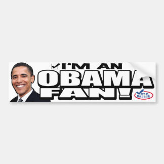 ¡Soy un fan de Obama! Pegatina para el parachoques Pegatina Para Auto