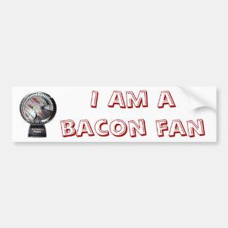 Soy un fan del tocino pegatina de parachoque