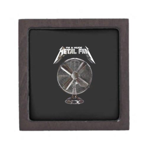 Soy un fan enorme del metal - fan del pedestal caja de recuerdo de calidad
