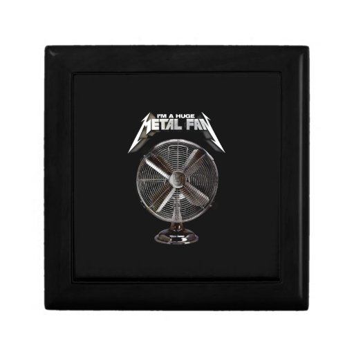 Soy un fan enorme del metal - fan del pedestal caja de joyas