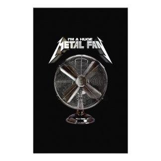 Soy un fan enorme del metal - fan del pedestal papelería personalizada