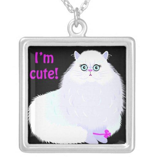 Soy un gato lindo colgante cuadrado