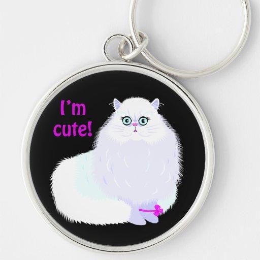 Soy un gato lindo llavero