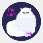 Soy un gato lindo pegatina redonda