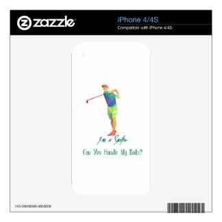 Soy un golfista - puede usted manejar mis bolas iPhone 4S calcomanía
