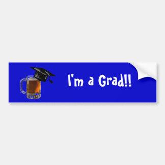 ¡Soy un graduado!! pegatina para el parachoques de Pegatina Para Auto