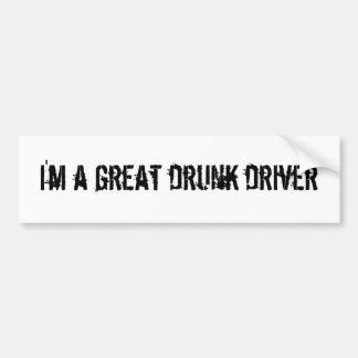 Soy un gran conductor bebido pegatina para auto