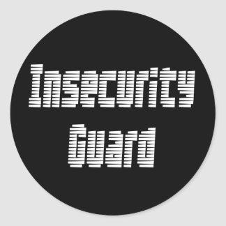 Soy un guardia de la inseguridad pegatina redonda