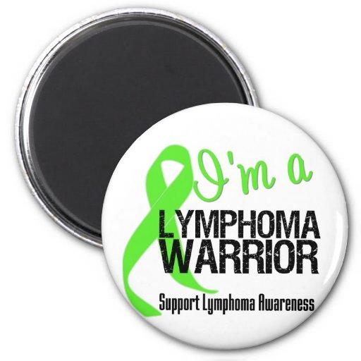Soy un guerrero del linfoma imán de nevera