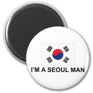 Soy un hombre de Seul Imán Redondo 5 Cm