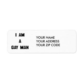 SOY UN HOMBRE GAY ETIQUETAS DE REMITE