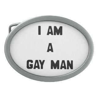 SOY UN HOMBRE GAY HEBILLA CINTURON OVAL