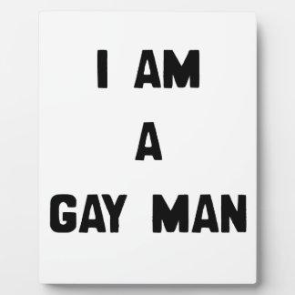 SOY UN HOMBRE GAY PLACA