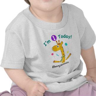 Soy un hoy - diseño de la jirafa camiseta