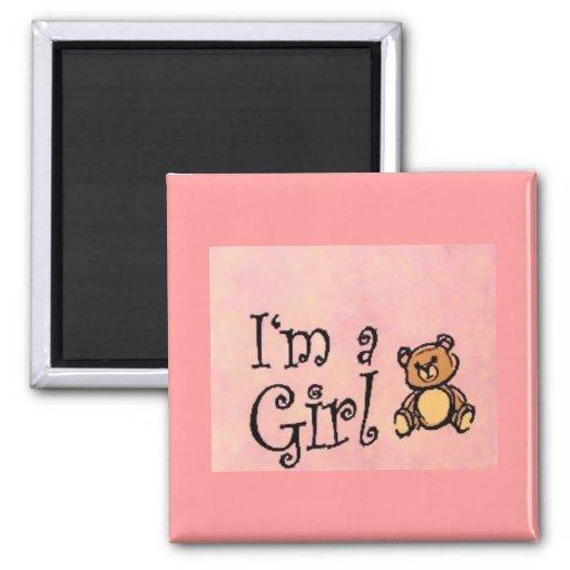 Soy un imán del chica/del oso de peluche