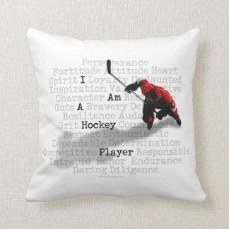 Soy un jugador de hockey cojín decorativo