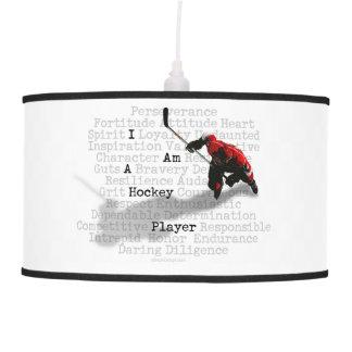 Soy un jugador de hockey lámpara de techo