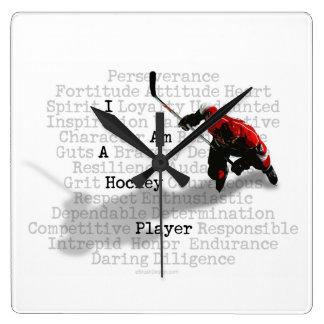 Soy un jugador de hockey reloj cuadrado