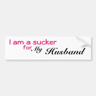 Soy un lechón para mi marido etiqueta de parachoque