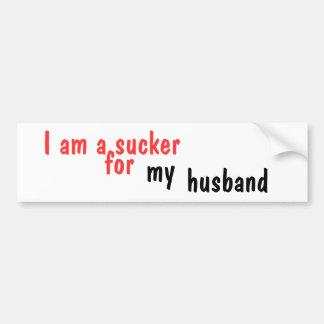 Soy un lechón para mi marido pegatina de parachoque