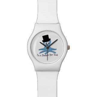 ¡Soy un lechón para usted! Pulpo azul Reloj