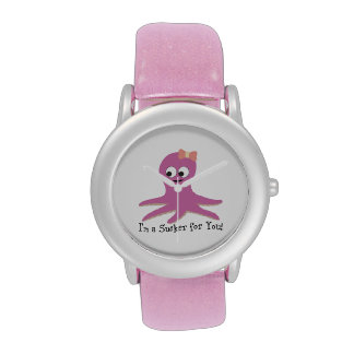 ¡Soy un lechón para usted! Pulpo rosado Reloj