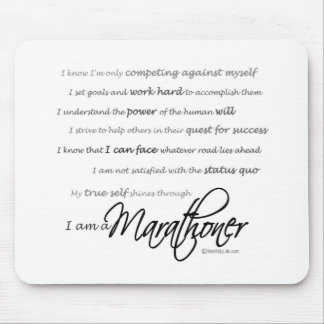 Soy un Marathoner - escritura Alfombrilla De Ratón