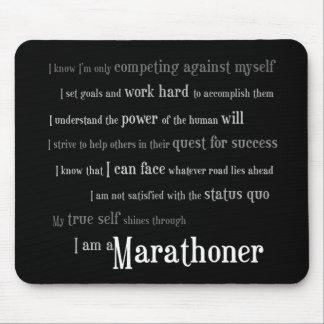 Soy un Marathoner Tapetes De Raton