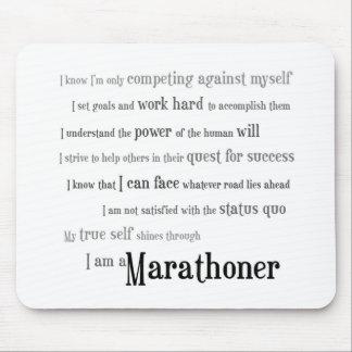 Soy un Marathoner Alfombrillas De Ratón