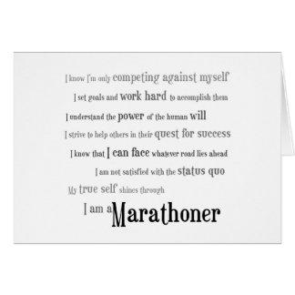 Soy un Marathoner Tarjeta De Felicitación