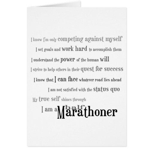 Soy un medio mejor del Marathoner de la suerte Felicitación