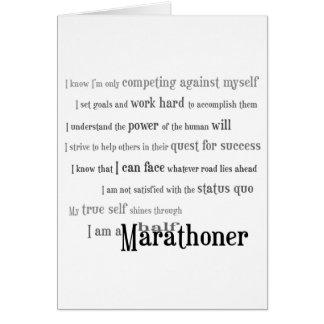 Soy un medio mejor del Marathoner de la suerte Tarjeta De Felicitación