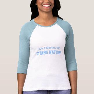 Soy un miembro de, nación de los titanes camiseta