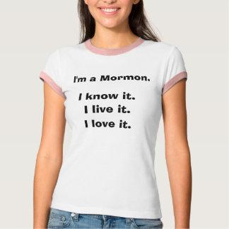 Soy un mormón. Lo sé. Vivo él. Lo amo. Anillo Playera
