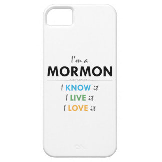 Soy un mormón: Lo sé, yo vivo él, yo lo amo iPhone 5 Case-Mate Carcasas
