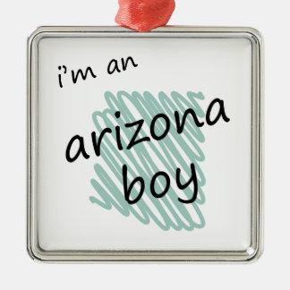 Soy un muchacho de Arizona Adorno Navideño Cuadrado De Metal