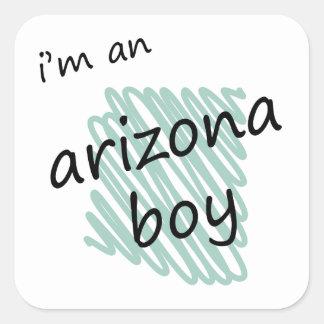Soy un muchacho de Arizona Pegatina Cuadrada