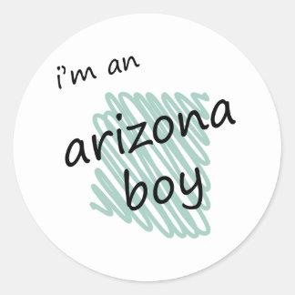Soy un muchacho de Arizona Pegatina Redonda