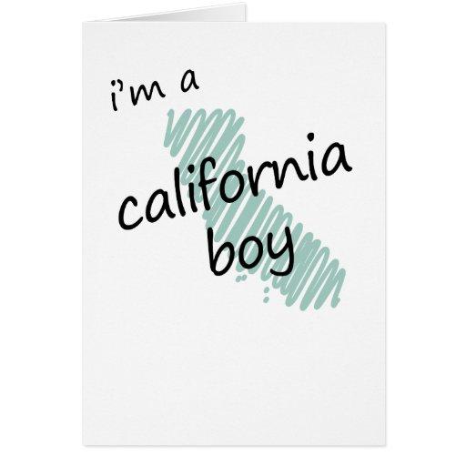 Soy un muchacho de California Tarjeta